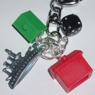 Monopoly Bag Charm Hotel House Black Dice Ship Car Boot Hat Dog