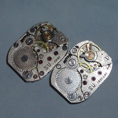 Steampunk Cufflinks Vintage Oblong Watch Movements Wedding