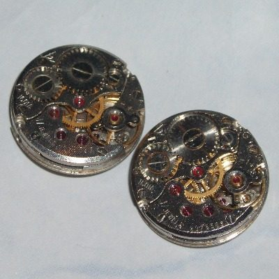 Steampunk Cufflinks Vintage Round Watch Movements Anniversary
