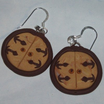 Hobbit Door Earrings Wooden Fimo Sterling Lord Of The Rings