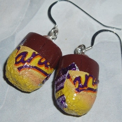 Caramel Egg Earrings Sweet Sterling