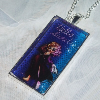 Dr Who Hello Sweetie Pendant Glass Cabochon River Song