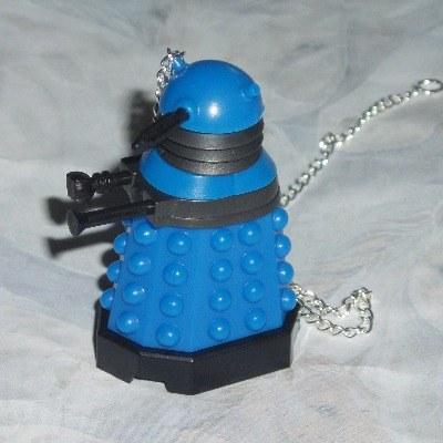 Dr Who Figure Pendant Dalek Blue Strategist