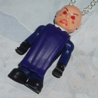 Dr Who Figure Pendant Smiler Angry Face