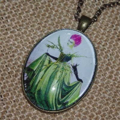 Thistle Fairy Necklace Pendant Scotland Scottish Celtic