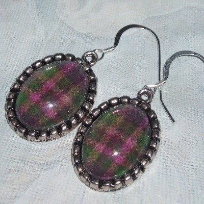 Tartan Earrings Plaid Scotland Scottish Clan