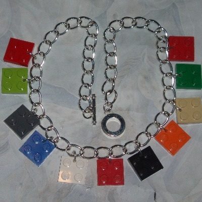 Lego Charm Necklace 2x2 Plates Fun Funky