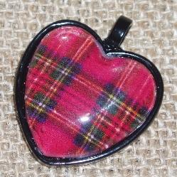 tartan heart pendant
