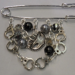 50 shades of grey kilt pin