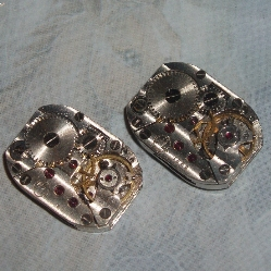 steampunk watch movement cufflinks 2a