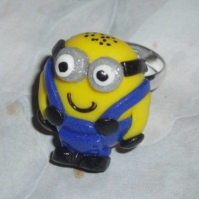 Minion Ring Two Eye Handmade Fimo Gru Despicable Me Adjustable