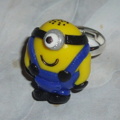 Minion Ring One Eye Handmade Fimo Gru Despicable Me Adjustable