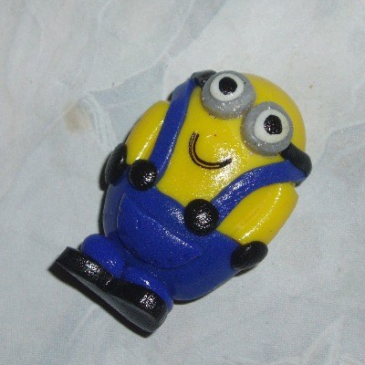 Minion Magnet Fridge Two Eye Handmade Fimo Gru Despicable Me