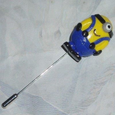 Minion Stick Pin Handmade Fimo Gru Despicable Me