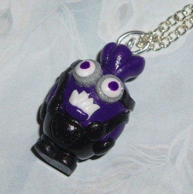Minion Pendant Necklace Evil Two Eyes Handmade Fimo Gru