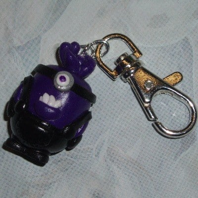 Minion Keyring Evil One Eye Large Handmade Fimo Gru
