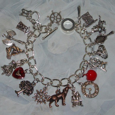 Once Upon A Time Charm Bracelet Loaded Charms Handmade