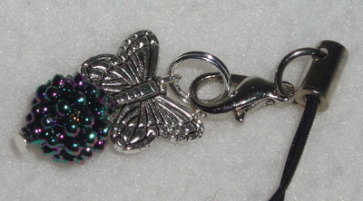 Blackberry Butterfly Phone Charm