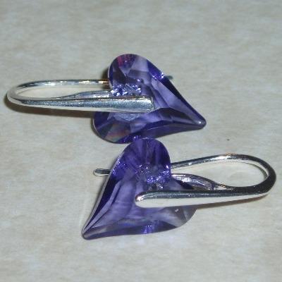 Swarovski Wild Heart Earrings Crystal Sterling