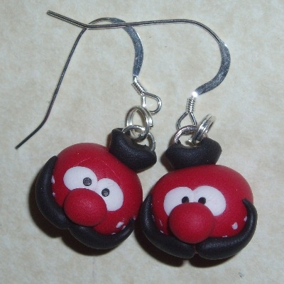 Magic Roundabout Earrings Zebedee Handmade Fimo Sterling