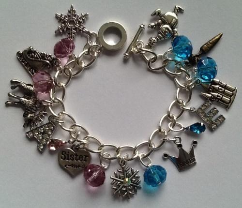 Frozen Inspired Charm Bracelet Handmade