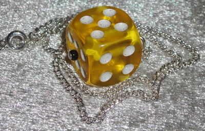 Dice Pendant Coloured Rockabilly Kitsch Funky