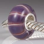 Purple Heather Glass Bead