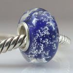 North Sea Blue Glass Bead