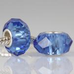Saltire Blue Faceted Crystal Bead