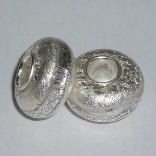 Silvery Tay Glass Bead