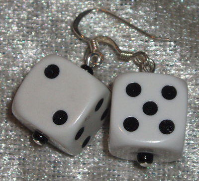 Dice Earrings Coloured Rockabilly Las Vegas