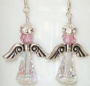 Angel Earrings Swarovski Crystal Handmade Birthday Christmas