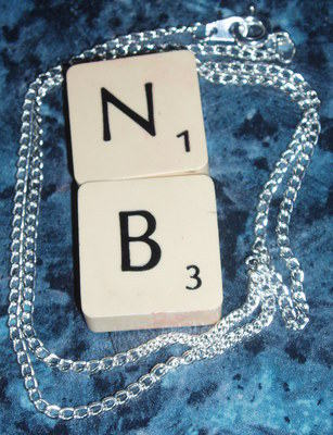 Scrabble Pendant Double Letters Tile J's K's Available