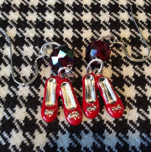 Ruby Slippers Earrings Wizard Of Oz Charms