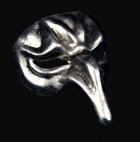 Pulcinella Full Face Masquerade Mask - Silver Edition