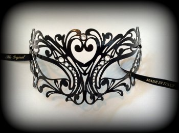 Tattoo Strass Filigree Metal Lace Mask