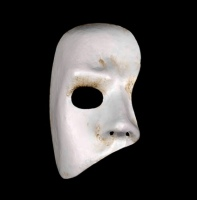 White Phantom of the Opera Venetian Masquerade Face Mask