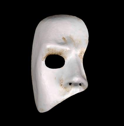 White Phantom of the Opera Venetian Masquerade Face Mask