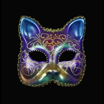 Gatto Arco Strass Masquerade Face Mask