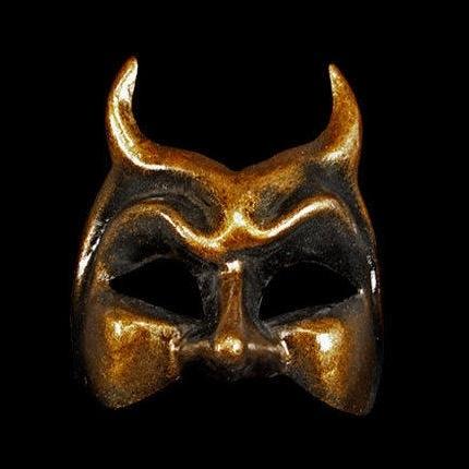 Diavolo Masquerade Face Mask - Bronze