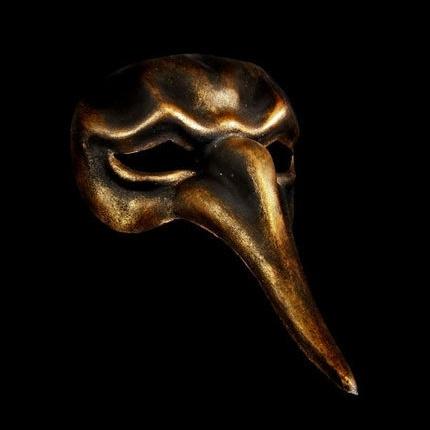 Naso Scaramouche Masquerade Mask - Bronze