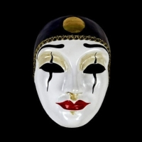 Pierrot Masquerade Mask - Female