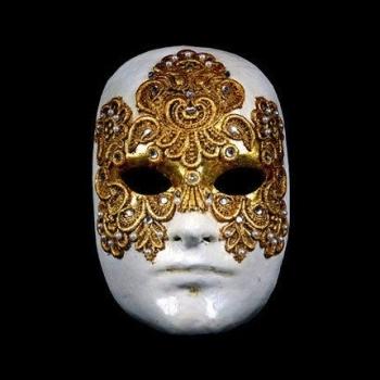 Volto Macrame Maschile Gold Masquerade Mask