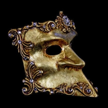 Bauta Barocco Masquerade Mask - Gold