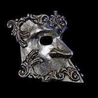 Bauta Barocco Masquerade Mask - Silver
