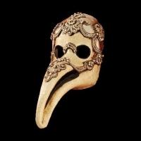 Plague Doctor Masquerade Mask - Macrame Silver