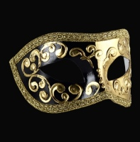 Mezza Masquerade Masks - Black