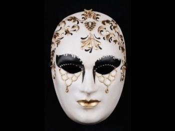 Volto Bi-Color Venetian Masquerade Mask
