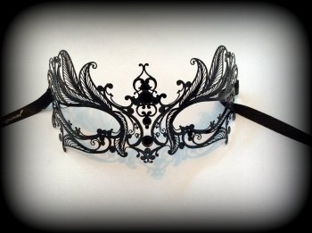 Mughetto Filigree Metal Mask - No Strass