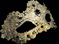 Murano Strass Mask - Gold Edition